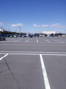 グリスタの駐車場