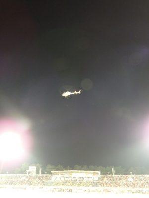 ヘリの始球式