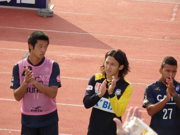 試合後の青木孝太