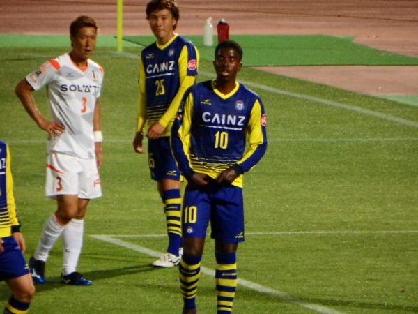 2016年J2第16節・愛媛FC戦。ザスパクサツ群馬のマテウス選手