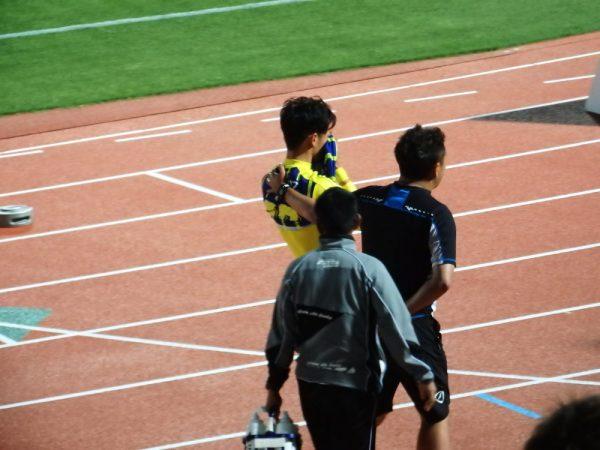 2017年J2・17節徳島ヴォルティス戦試合後に涙するザスパクサツ群馬・チェジュンギ選手