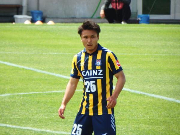 先制ゴールをあげた永藤歩 天皇杯予選